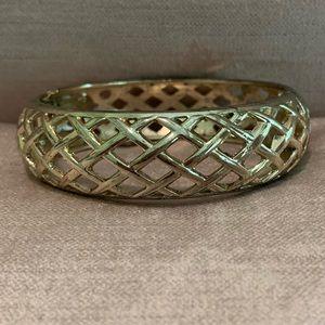 Sequin Gold Bracelet- Wide